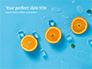 Summer Background with Oranges slide 1