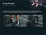Closeup Portrait of Professional Bodybuilder Workout with Barbell slide 10