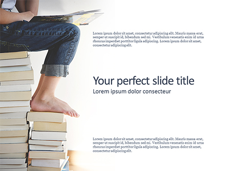 World of Books Presentation Template, Master Slide