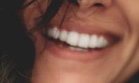 Close-up Beautiful Female Smile Presentation Template