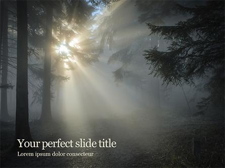 Sunrise in the Deep Forest Presentation Template, Master Slide