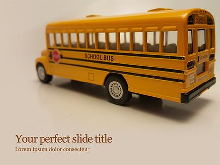 Toy School Bus Presentation Template, Master Slide