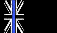 Thin Blue Line British Flag Presentation Template
