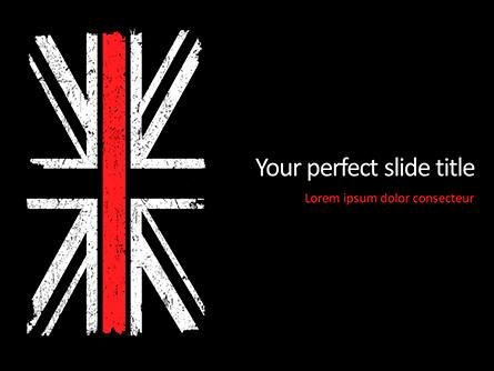 Thin Red Line British Flag Presentation Template, Master Slide