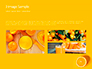 Portrait of Blonde Girl Lying on Yellow Background with Oranges slide 12