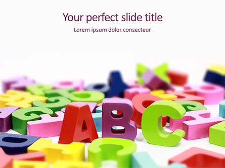 Scattered Alphabet Letters Presentation Template, Master Slide