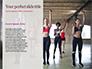 Beautiful Fitness Girls Doing Exercise Presentation slide 9