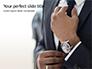 A Businessman Straightens His Tie Presentation slide 1