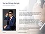A Businessman Straightens His Tie Presentation slide 15