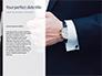 A Businessman Straightens His Tie Presentation slide 9