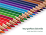 Colored Pencils Arranged in a Line Presentation slide 1