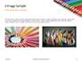 Colored Pencils Arranged in a Line Presentation slide 11