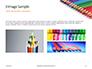 Colored Pencils Arranged in a Line Presentation slide 12