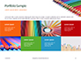 Colored Pencils Arranged in a Line Presentation slide 17