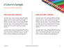 Colored Pencils Arranged in a Line Presentation slide 5