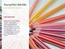 Colored Pencils Arranged in a Line Presentation slide 9