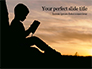 Silhouette of Little Boy Reading the Book Presentation slide 1