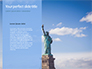 The Statue of Liberty in New York City Presentation slide 9