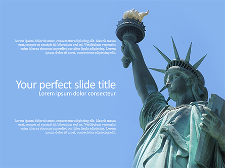 The Statue of Liberty in New York City Presentation Presentation Template, Master Slide