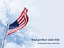 American Flag Waving on Flagpole Presentation slide 1