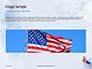 American Flag Waving on Flagpole Presentation slide 10