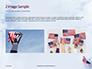 American Flag Waving on Flagpole Presentation slide 11