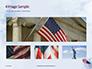 American Flag Waving on Flagpole Presentation slide 13