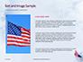 American Flag Waving on Flagpole Presentation slide 15
