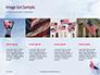 American Flag Waving on Flagpole Presentation slide 16