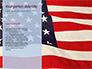 American Flag Waving on Flagpole Presentation slide 9