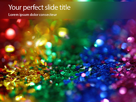 Whimsical and Colorful Rainbow Glitter Presentation Presentation Template, Master Slide