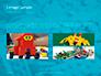 Scattered Blue Blocks of Building Kit Presentation slide 12