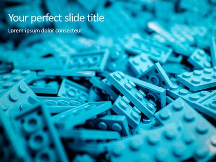 Scattered Blue Blocks of Building Kit Presentation Presentation Template, Master Slide