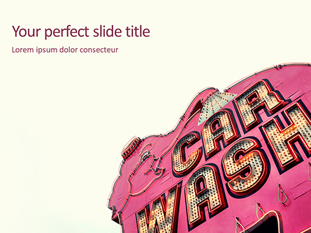 Car Wash Signboard Presentation Presentation Template, Master Slide