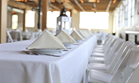 Long Table Served for Banquet Presentation Presentation Template