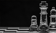 Transparent Chess Pieces Presentation Presentation Template