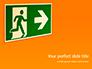 Emergency Exit Sign on Orange Background Presentation slide 1