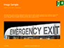 Emergency Exit Sign on Orange Background Presentation slide 10
