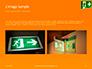 Emergency Exit Sign on Orange Background Presentation slide 11