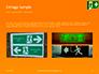 Emergency Exit Sign on Orange Background Presentation slide 12