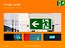 Emergency Exit Sign on Orange Background Presentation slide 13