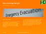 Emergency Exit Sign on Orange Background Presentation slide 14