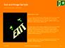 Emergency Exit Sign on Orange Background Presentation slide 15