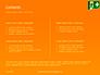 Emergency Exit Sign on Orange Background Presentation slide 2