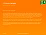 Emergency Exit Sign on Orange Background Presentation slide 4