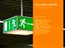 Emergency Exit Sign on Orange Background Presentation slide 9