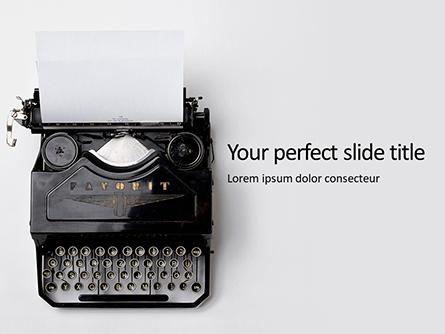 Old Typewriter Presentation Presentation Template, Master Slide
