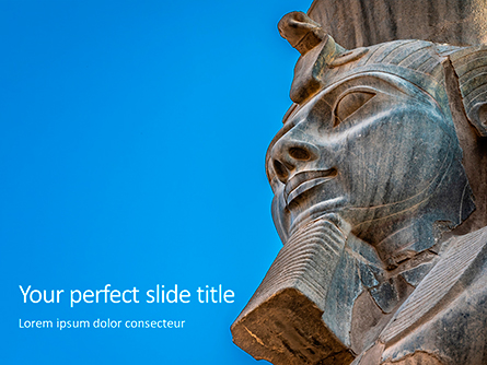 Head of Pharaoh Statue Presentation Presentation Template, Master Slide