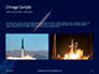Space Rocket with Flames Presentation slide 11