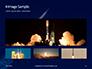 Space Rocket with Flames Presentation slide 13